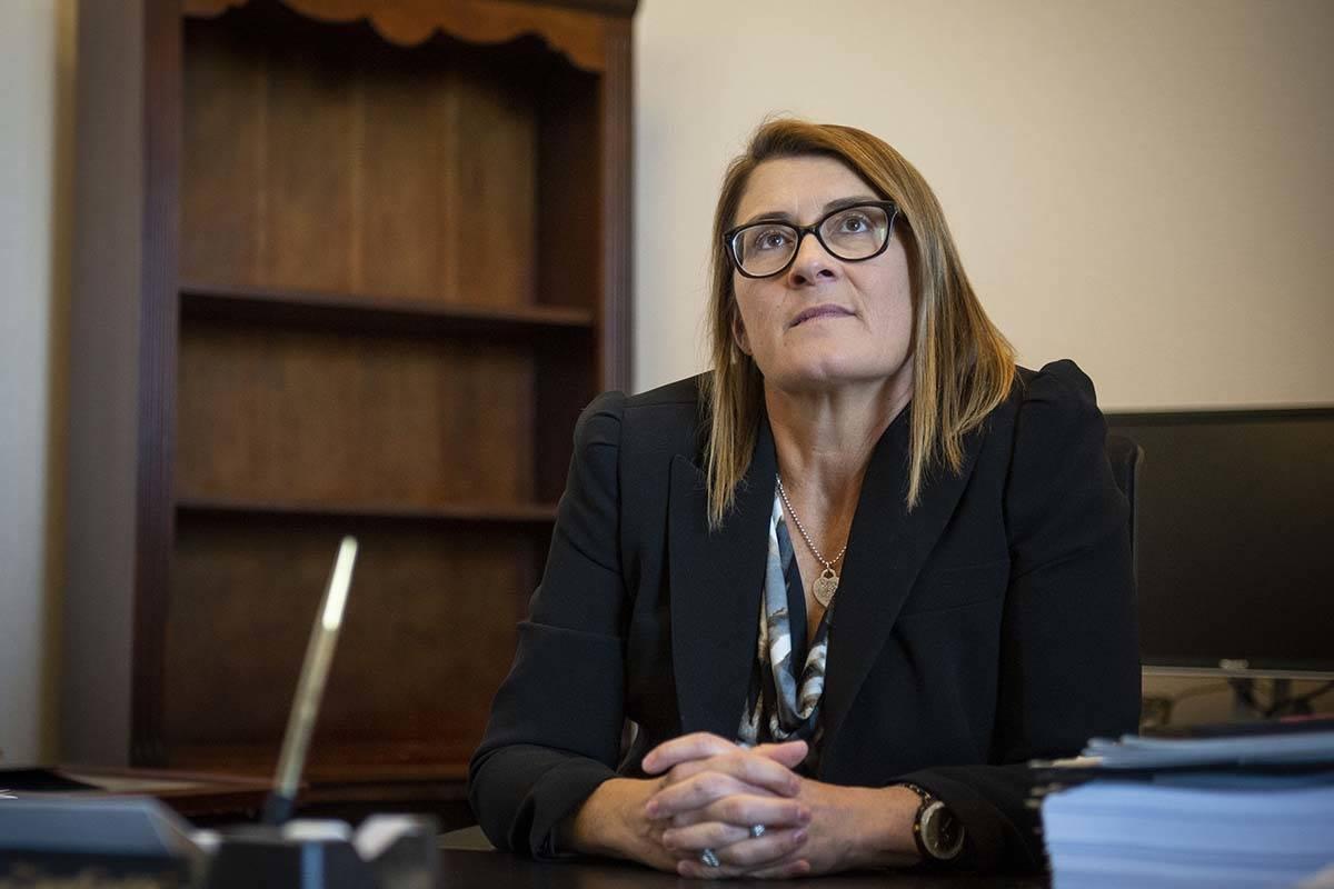 La jueza de distrito, Jennifer Togliatti, en el Centro Regional de Justicia el 28 de noviembre ...