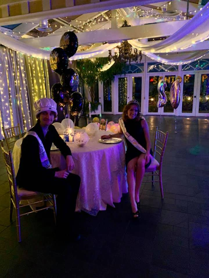Chef Sonia El-Nawal threw a surprise prom for teen employees Olivia Hergenroeder and Seth Telle ...