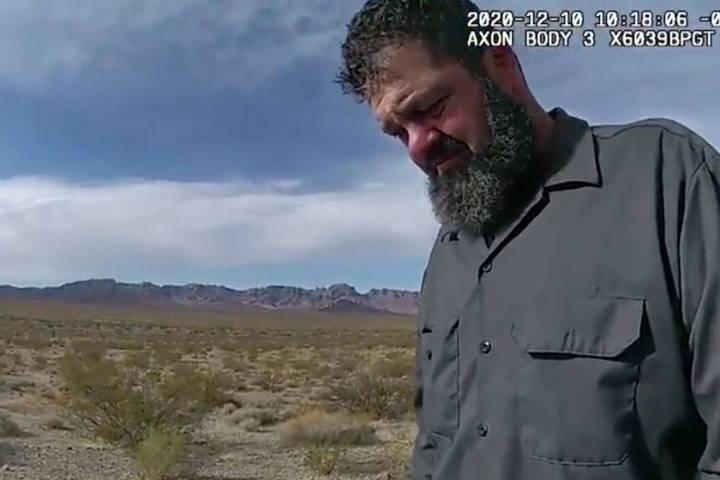 Esta captura de pantalla de un video de la Patrulla de Carreteras de Nevada muestra a Jordan Al ...