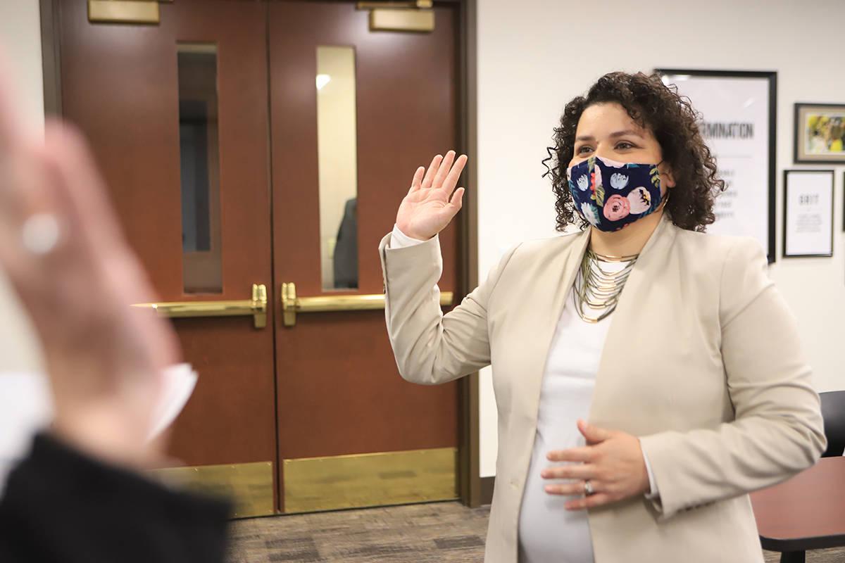 La recién elegida nueva fideicomisaria, Evelyn García Morales, juramentó el pasado lunes 4 d ...