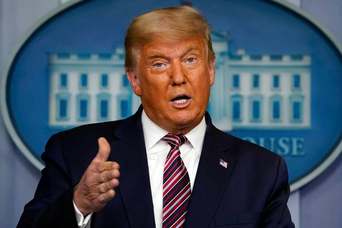 En esta foto de archivo, el presidente Donald Trump habla en la Casa Blanca en Washington, en n ...