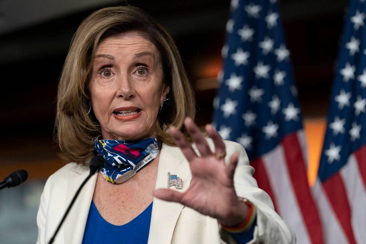 En esta foto de archivo, la presidenta de la Cámara de Representantes de California, Nancy Pel ...
