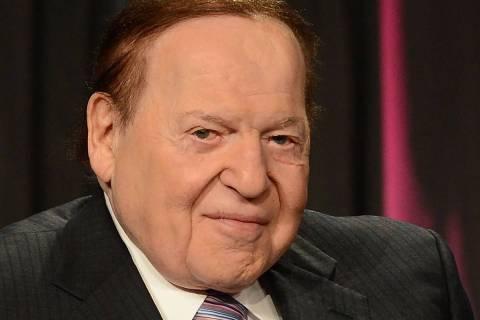 El presidente y director general de Las Vegas Sands Corp., Sheldon Adelson, en la Global Gaming ...