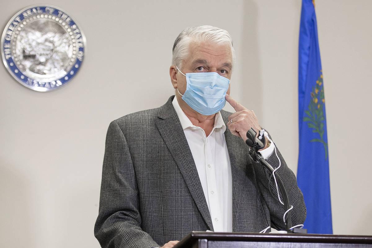 Gobernador de Nevada, Steve Sisolak. (Benjamin Hager/Las Vegas Review-Journal) @benjaminhphoto