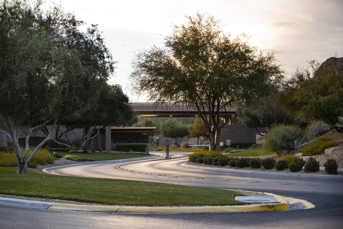 Entrada a The Ridges, una comunidad de lujo en Summerlin, Las Vegas el sábado, 2 de enero de 2 ...