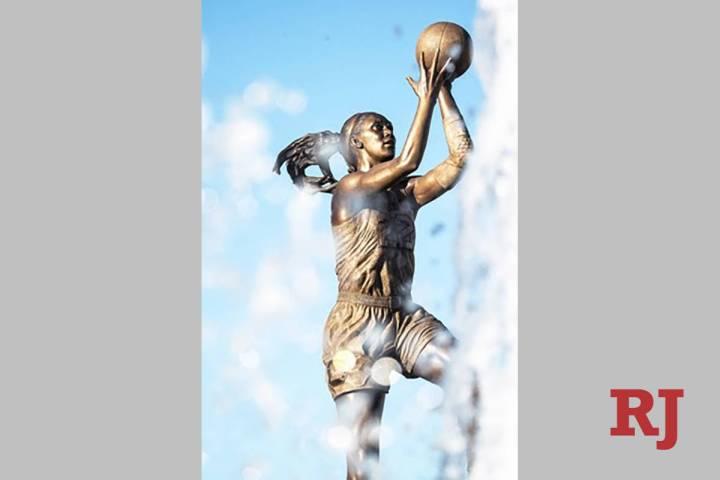 La estatua de A'ja Wilson en la Universidad de Carolina del Sur. (Las Vegas Aces)