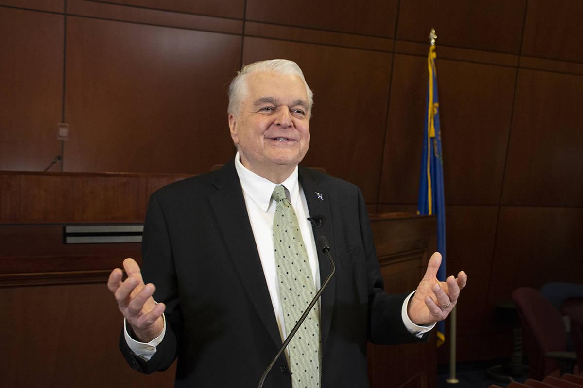 El gobernador de Nevada, Steve Sisolak, emitió su Informe de Gobierno en el que destacó el Pr ...