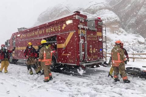 Un excursionista herido fue rescatado cerca del Red Rock Canyon National Conservation Area el l ...