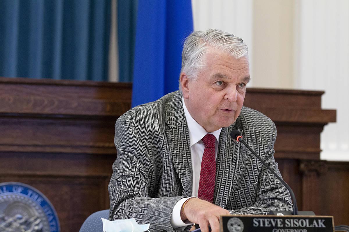 Gobernador Steve Sisolak. (Colton Lochhead/Las Vegas Review-Journal)