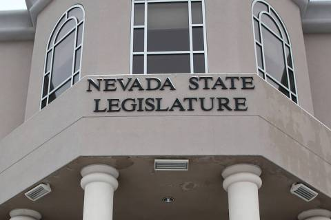 El edificio legislativo de Nevada en Carson City. (K.M. Cannon/Las Vegas Review-Journal) @KMCan ...