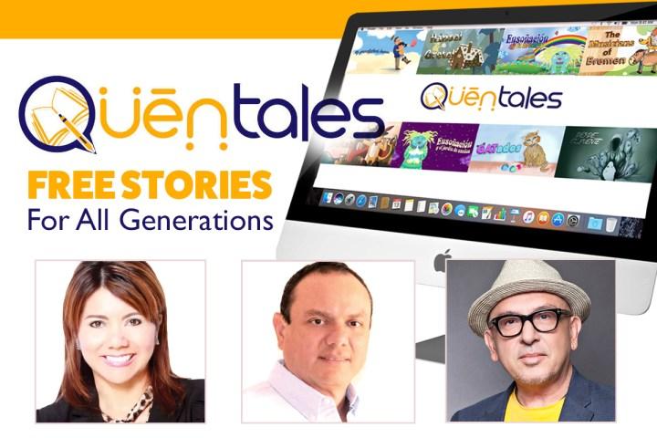Mónica Prado, Carlos Lauso (Fundadores) y Jorge Betancourt-Polanco (autor-Ilustrador y colaborador del proyecto). [Quentales.com]