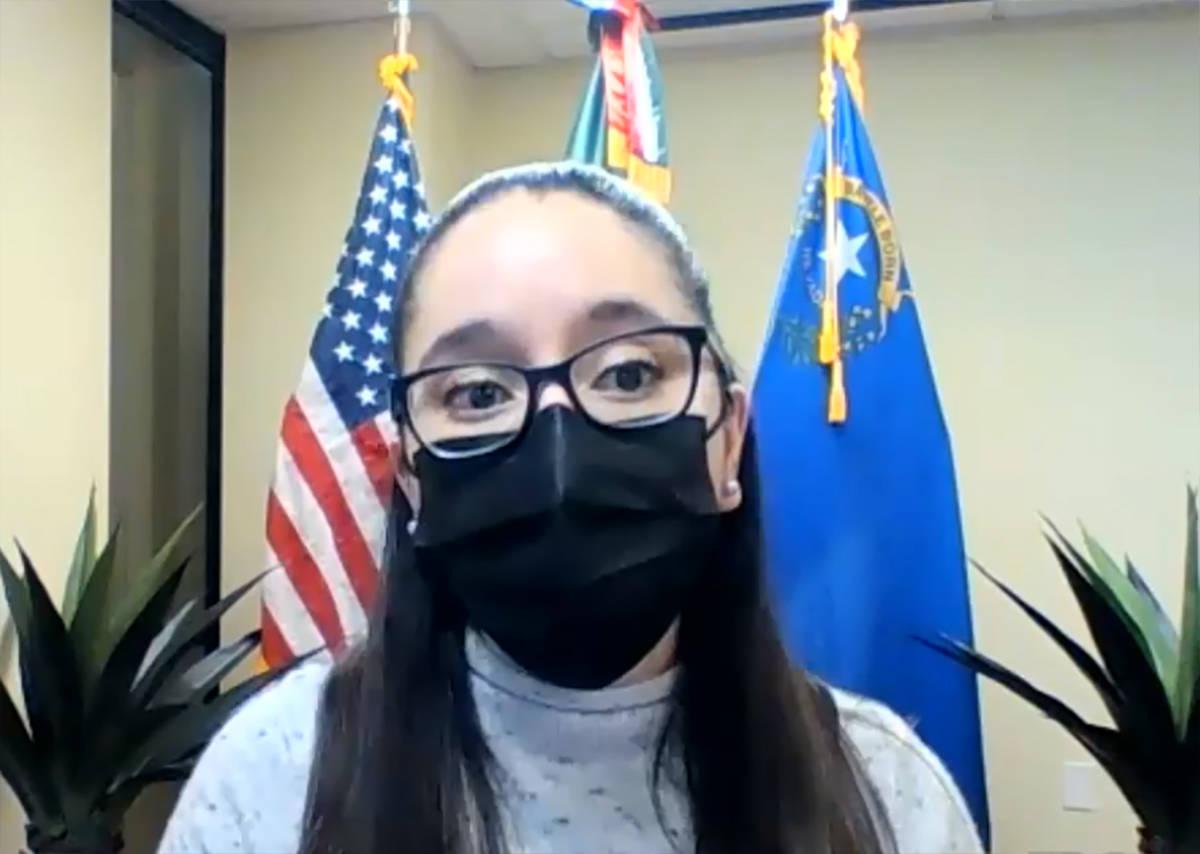 Cónsul de Protección, Rebeca Ramírez, durante un seminario virtual organizado por el Consula ...