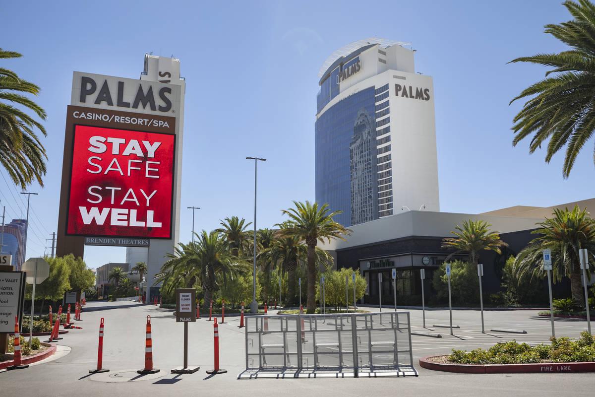 Una vista del Palms en Las Vegas el miércoles, 12 de agosto de 2020. (Las Vegas Review-Journal)