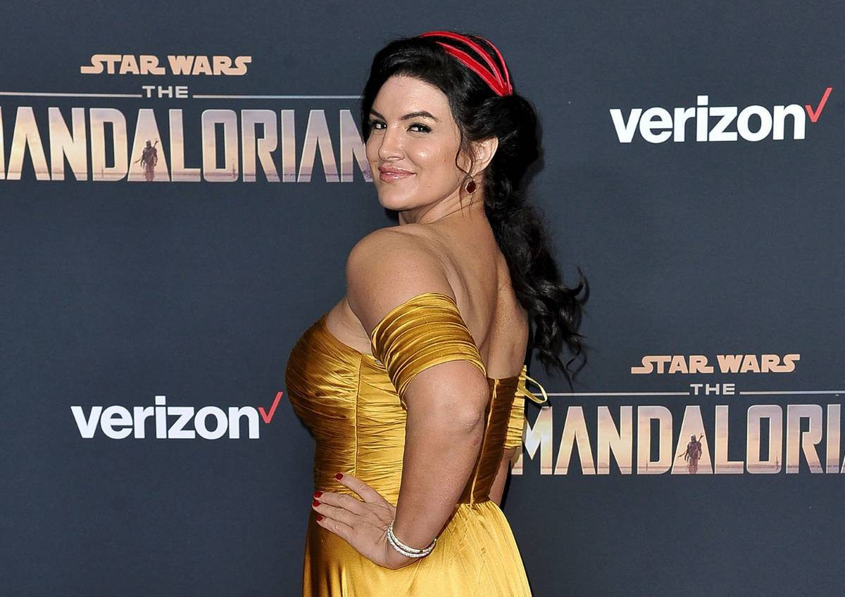 """Gina Carano asiste al estreno de """"The Mandalorian"""" en el El Capitan Theatre de Los Ángeles en ..."""