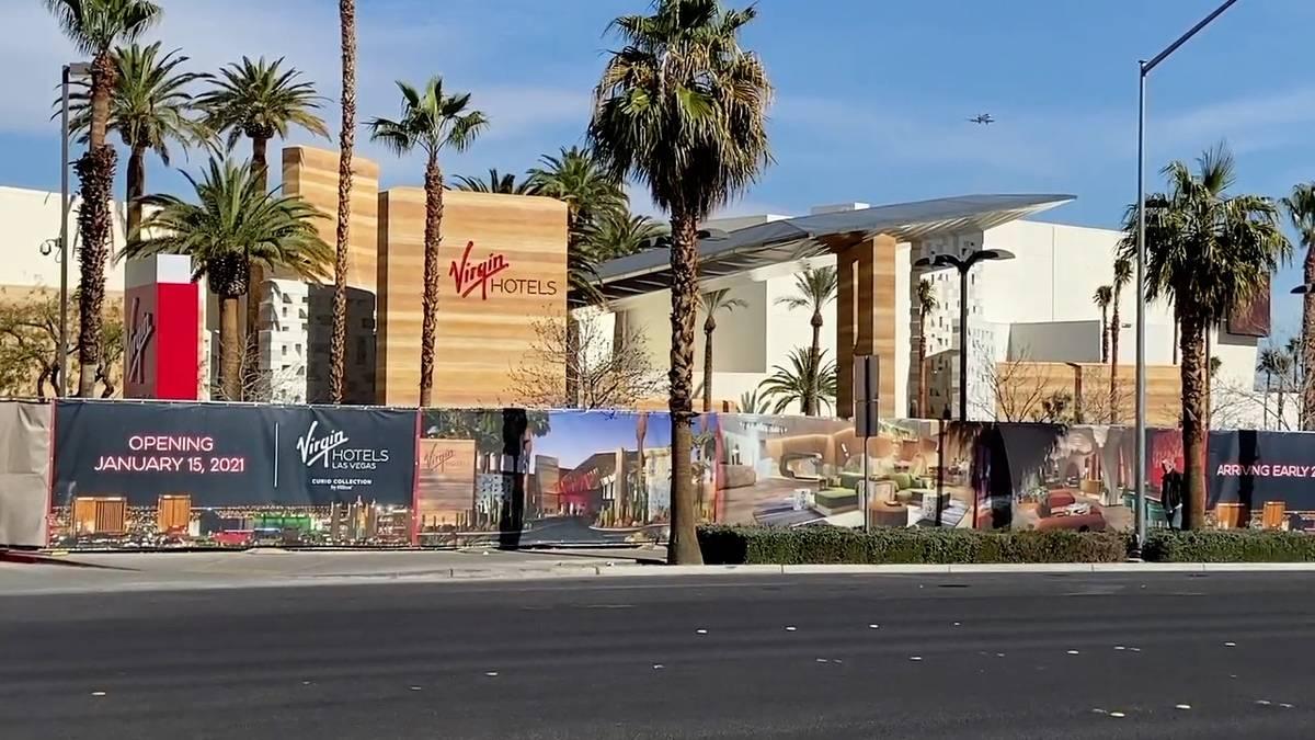 Un vistazo al exterior del Virgin Hotel Las Vegas, cuya apertura está prevista para el 25 de m ...