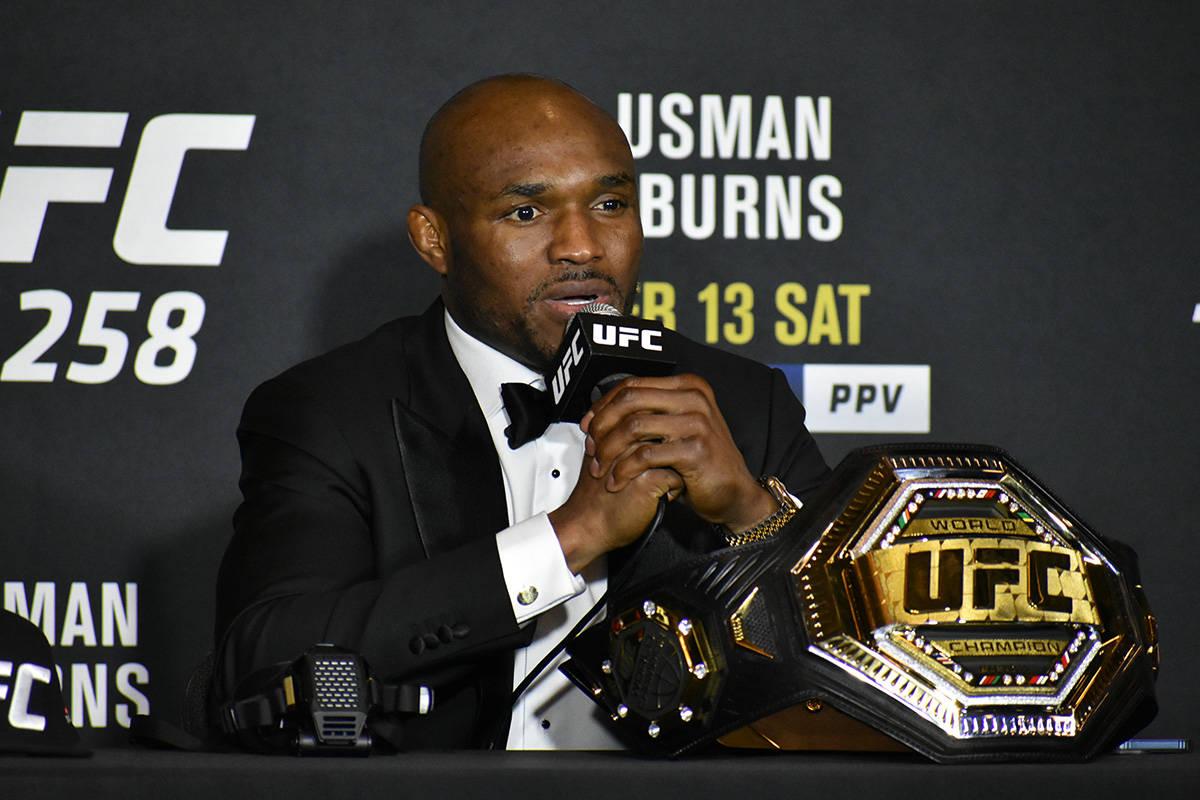 Kamaru Usman dijo ante los medios de comunicación que le gustaría tener algunas peleas más e ...