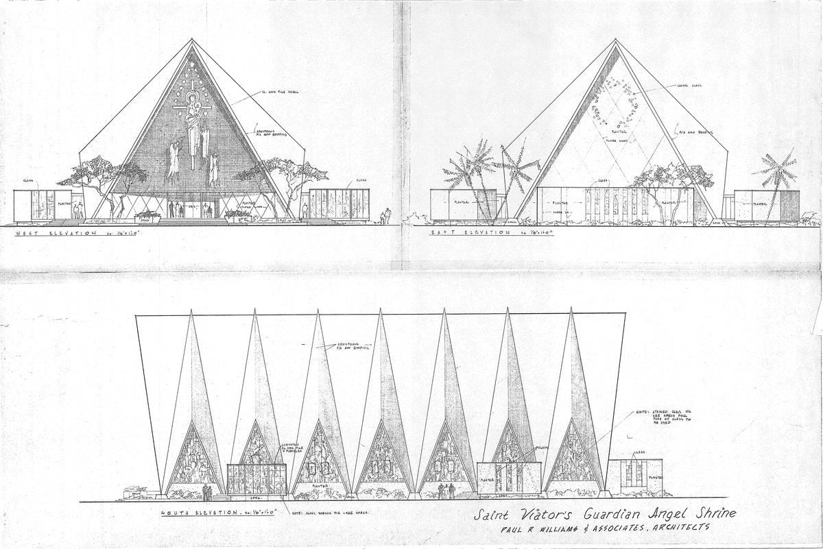 Los planos de lo que entonces se llamaba San Viator's Guardian Angel Shrine llevan el nombre de ...