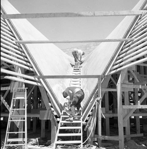 La Concha Motel en Las Vegas diseñado por el arquitecto Paul Revere Williams. (Nevada State Mu ...