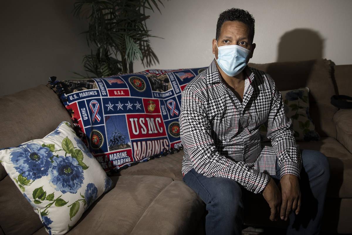 Ronald Pipkins, que fue el primer caso presuntamente positivo de COVID-19 en Nevada, en su casa ...