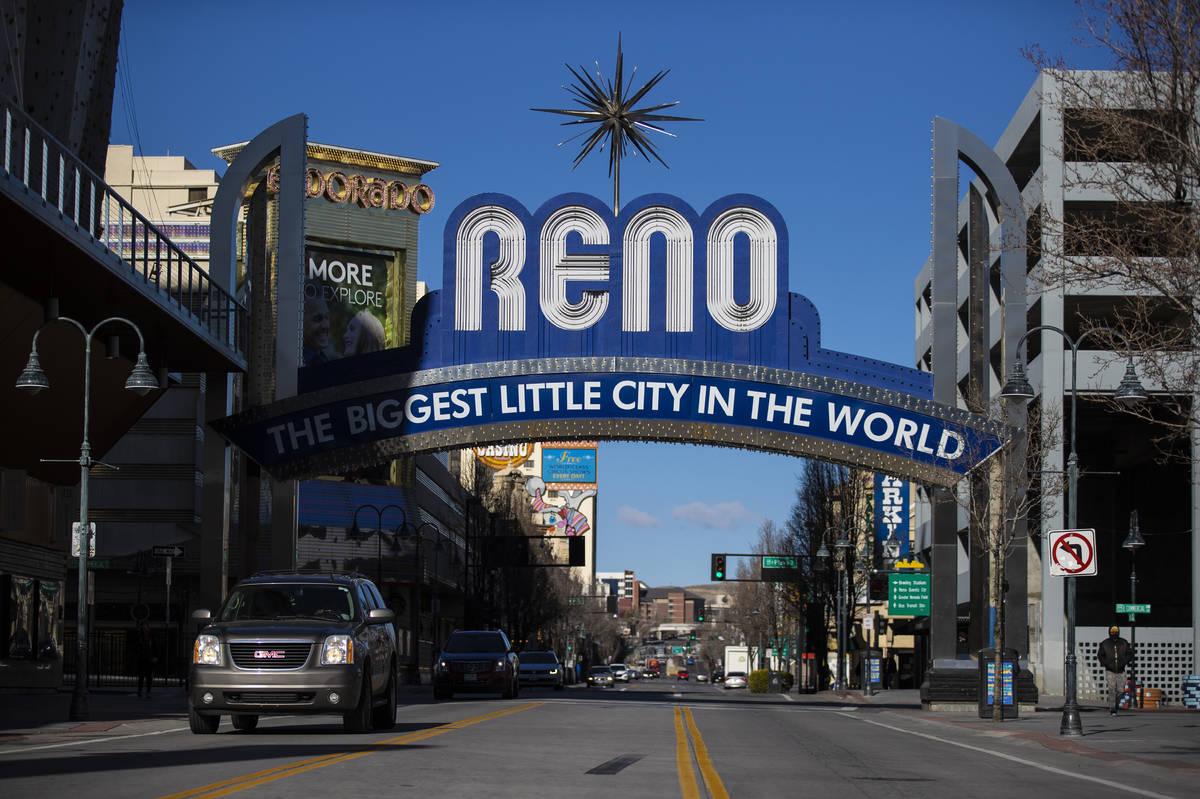 Downtown Reno el martes, 19 de enero de 2021. (Benjamin Hager/Las Vegas Review-Journal) @benjam ...