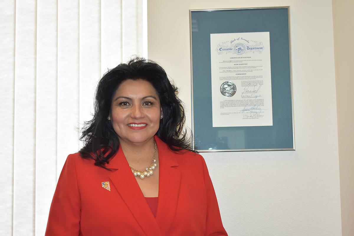 En esta foto de archivo, la asambleísta Susie Martínez posa para un retrato en su oficina sit ...