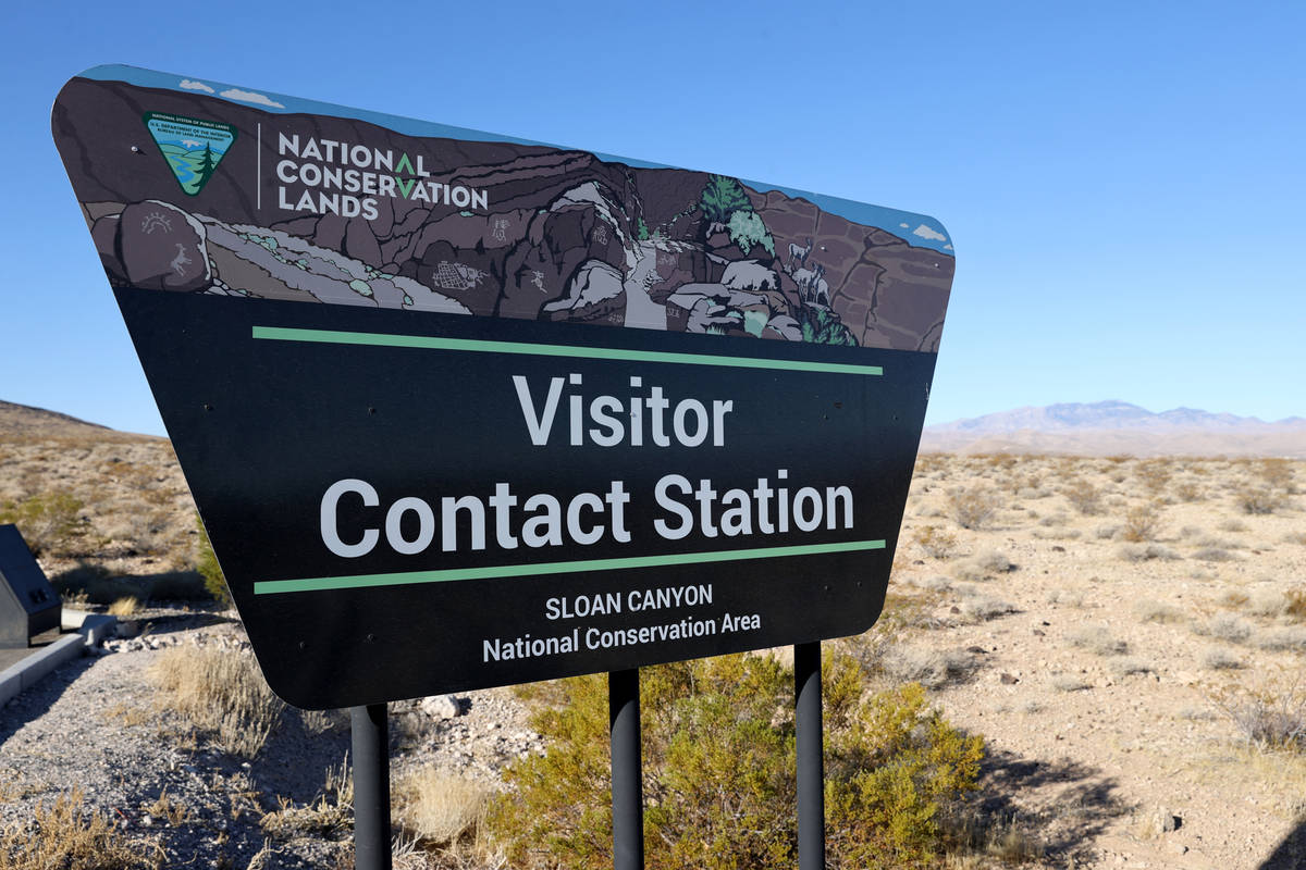 El Visitor Contact Station en el Sloan Canyon National Conservation Area el viernes, 26 de febr ...