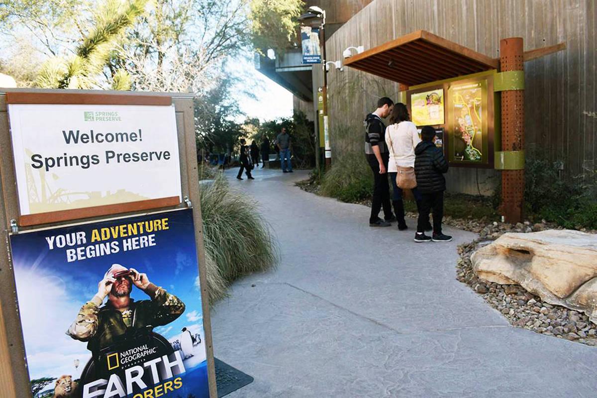 Fotografía de archivo de la zona de acceso al público del parque Springs Preserve. Domingo 24 ...