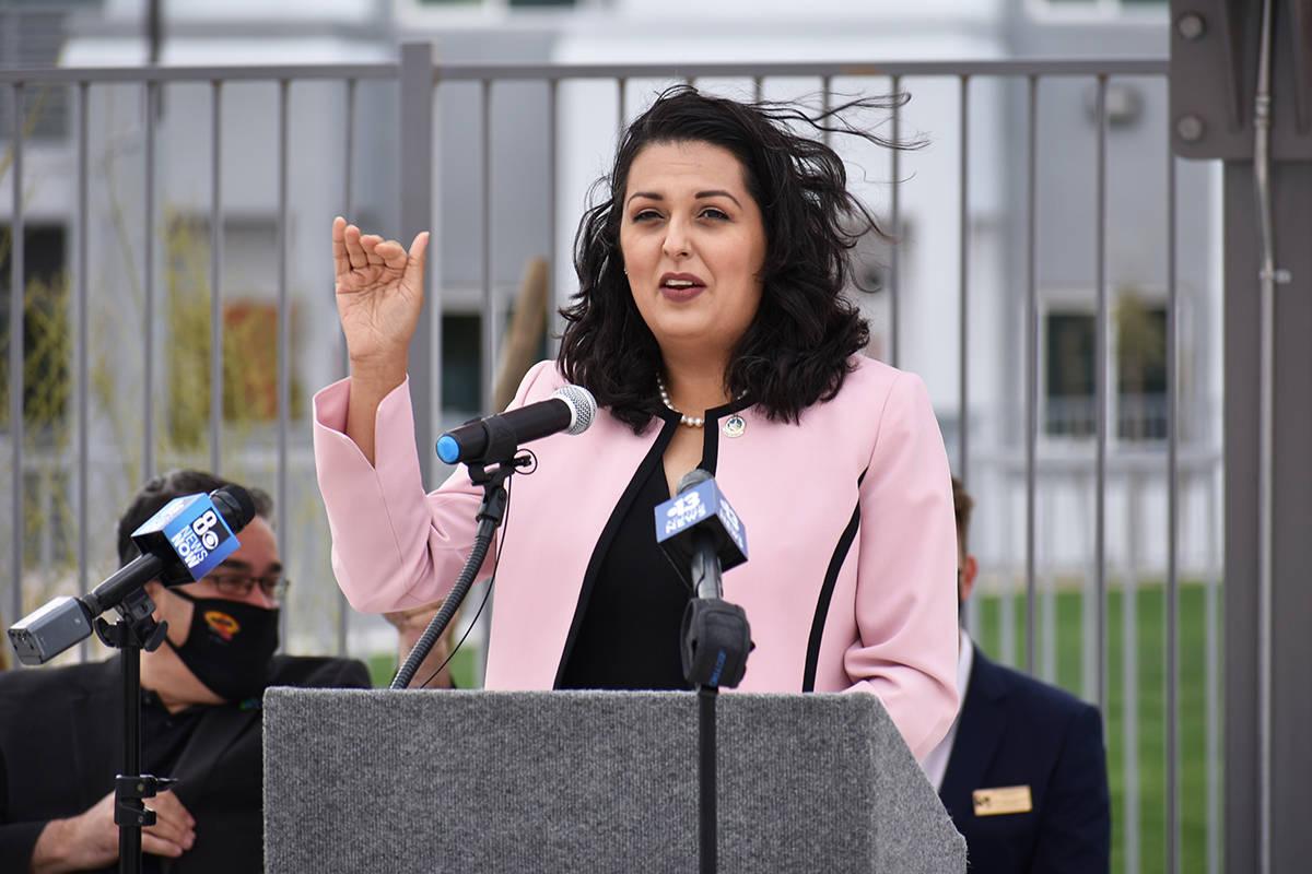 La concejal por el Distrito 3 de Las Vegas, Olivia Díaz, dijo sentirse orgullosa de que el inv ...