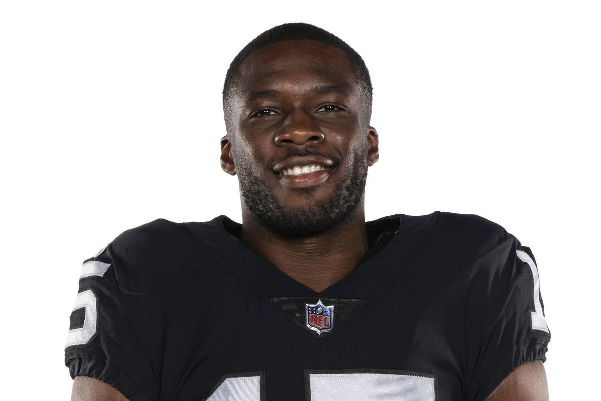 Esta es una foto de 2020 de Nelson Agholor del equipo de fútbol americano Las Vegas Raiders de ...