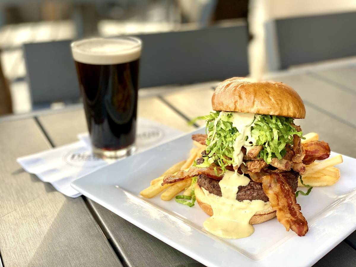 The Guinness Burger en Distill and Remedy's. (Distill and Remedy's)