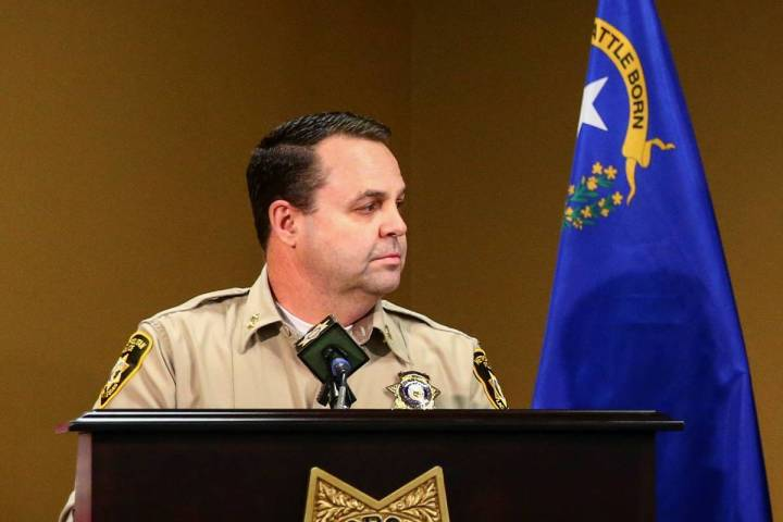El ayudante del alguacil, Chris Jones, junio de 2020. (Chase Stevens/Las Vegas Review-Journal)