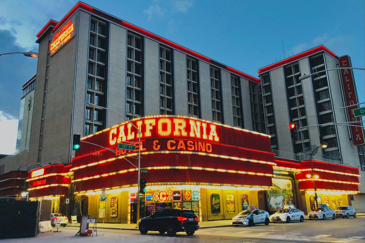 Una foto de archivo del 14 de marzo de 2020 muestra el hotel-casino California, operado por Boy ...