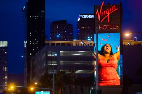Virgin Hotels Las Vegas el miércoles, 24 de marzo de 2021. (Benjamin Hager/Las Vegas Review-Jo ...