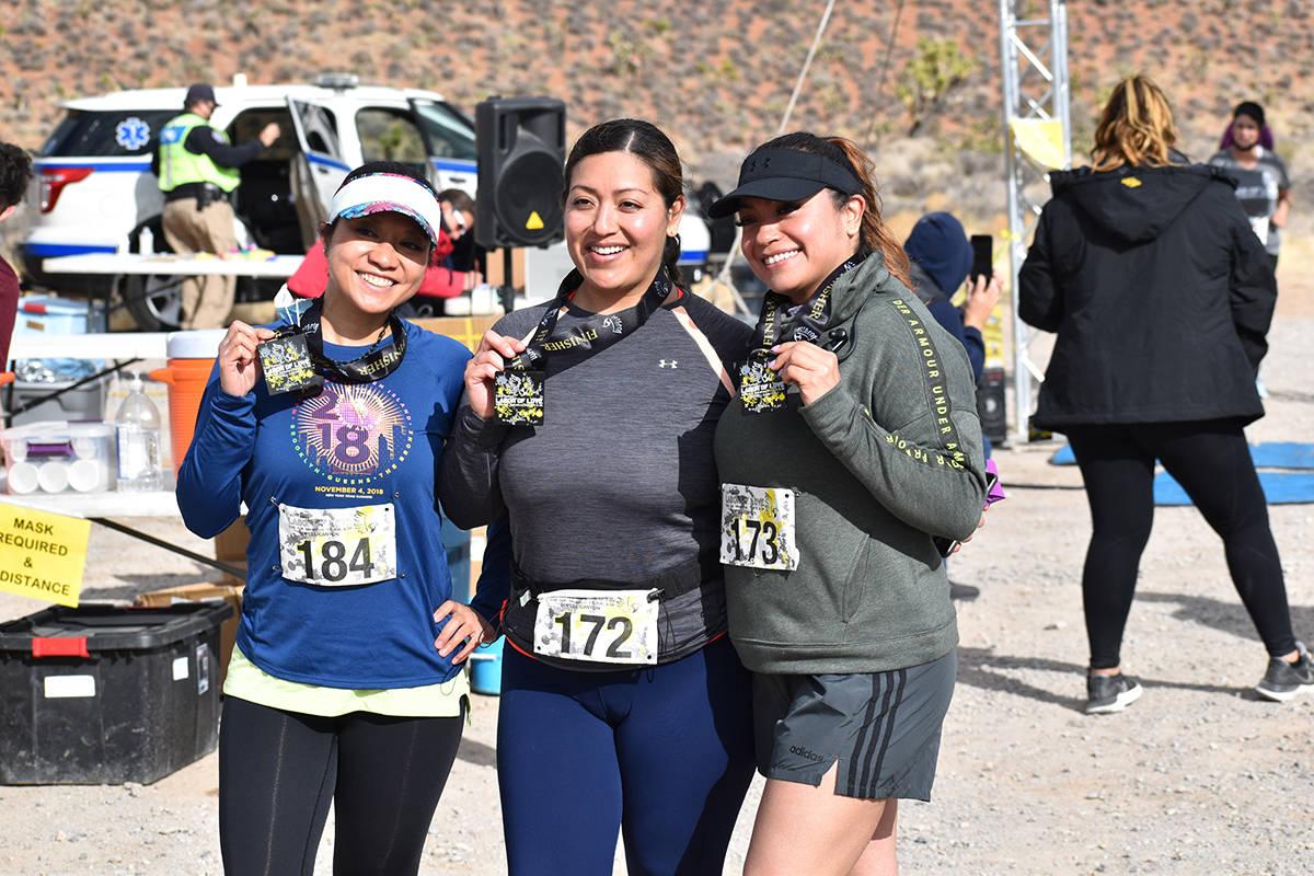 María Humphrey (184), de Las Vegas, Nevada y Giuliana Castro (172) así como Sandra Contreras ...