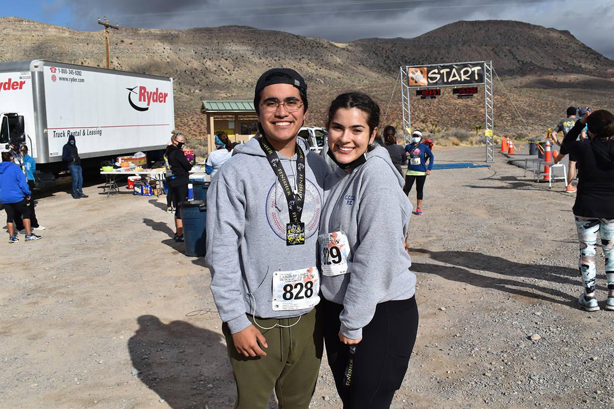 David Alonzo y su novia Luciana Stavry, son estudiantes del Colegio del Sur de Nevada y en su d ...