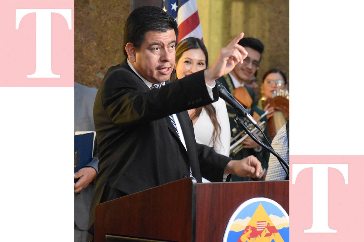 Isaac Barrón, concejal por el Distrito 1 de North Las Vegas, ha sido artífice de la celebraci ...