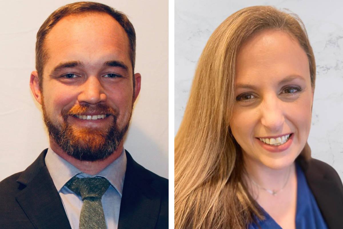 Christopher Peterson, a la izquierda, y Jennifer Shomshor se incorporan a la ACLU de Nevada com ...