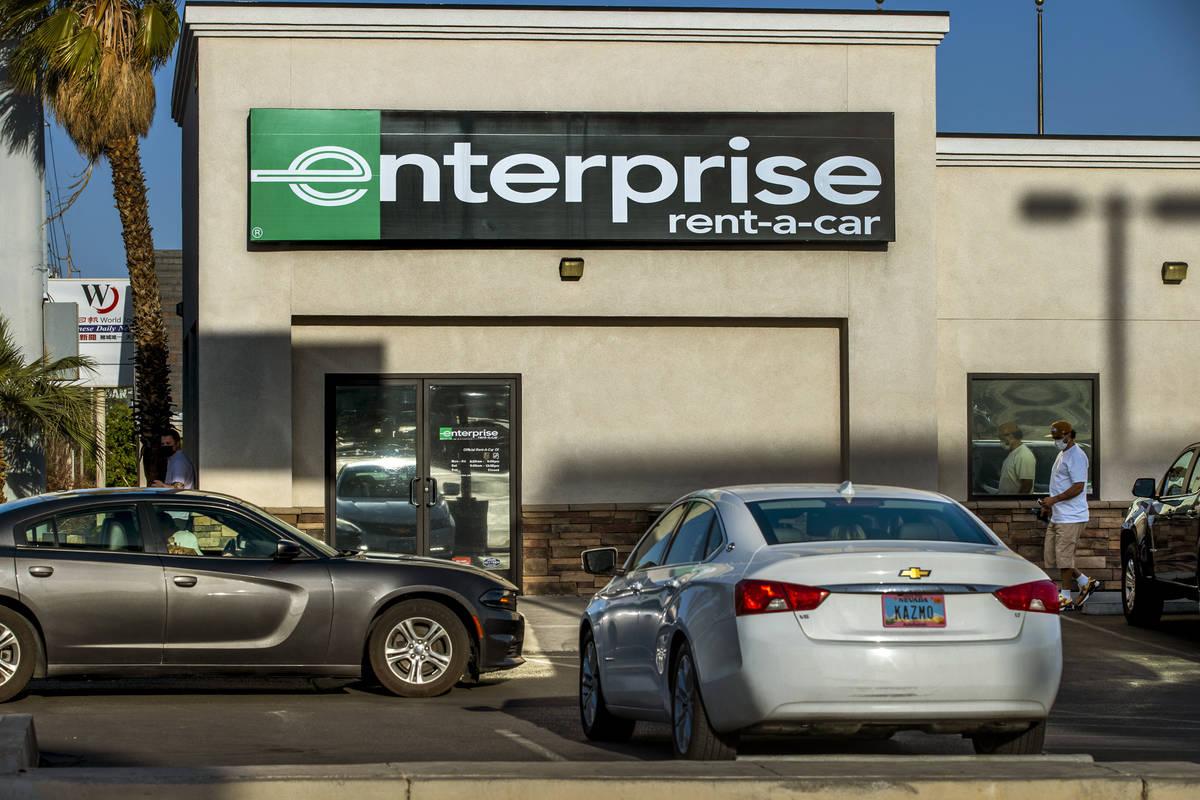 Enterprise Rent-A-Car en la Avenida West Sahara el lunes, 5 de abril de 2021. L.E. Baskow/Las V ...