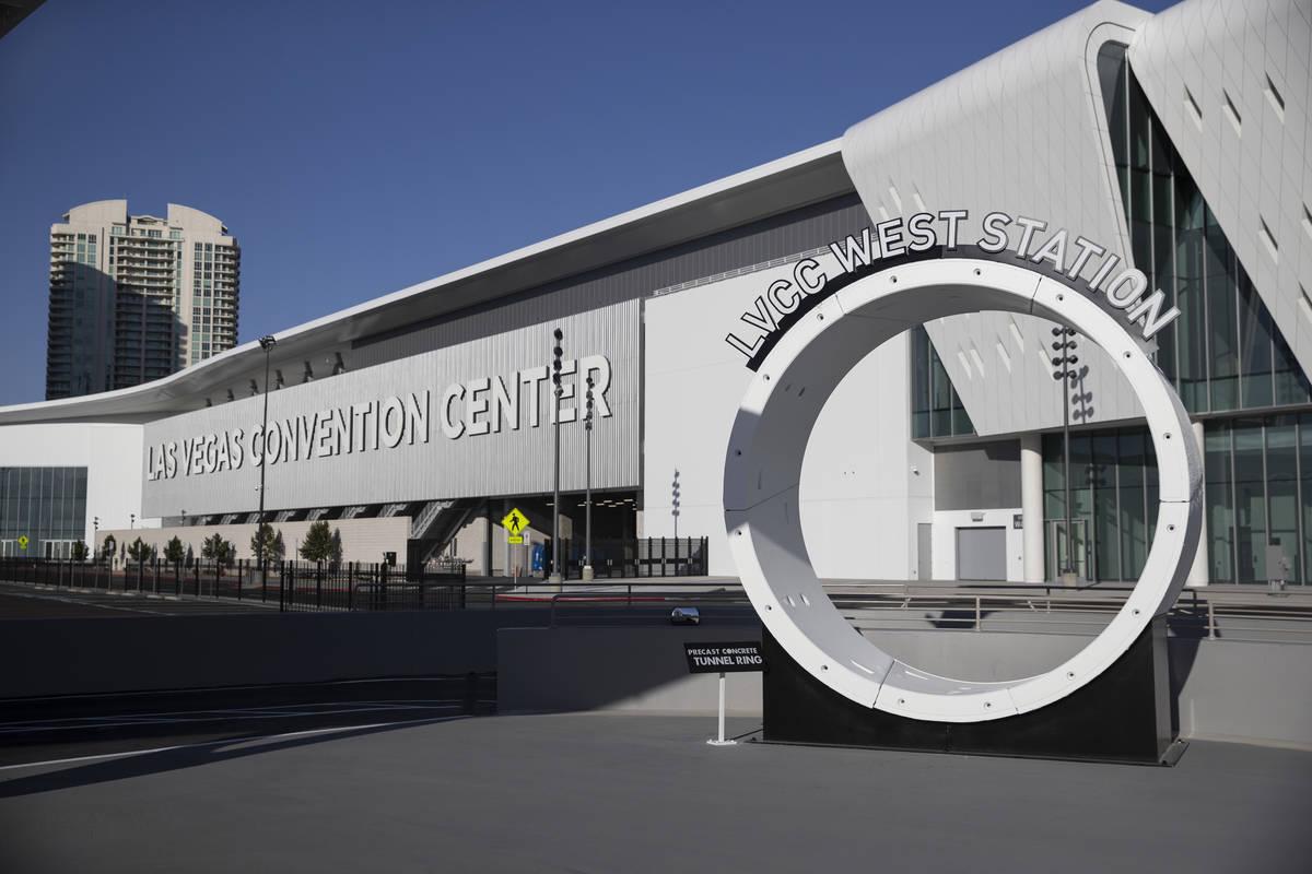 La West Station del Boring Company's Convention Center Loop durante un tour del Las Vegas Con ...