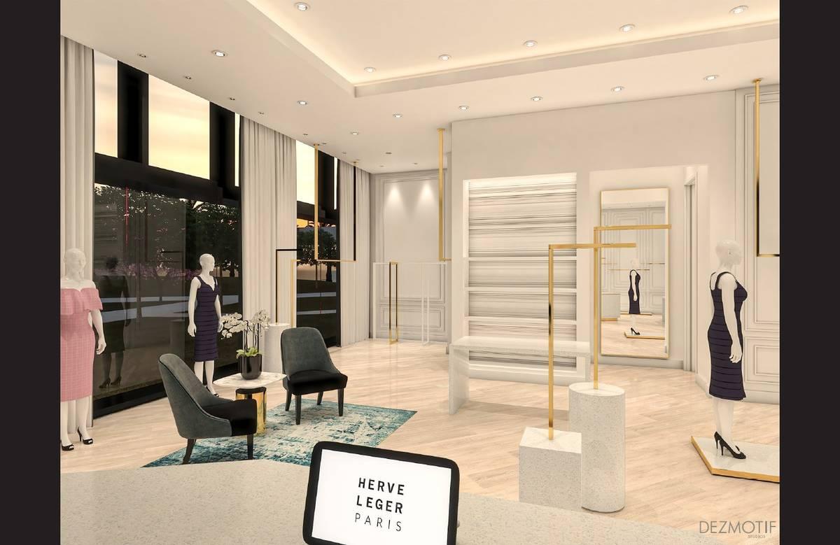 Render del local de Hervé Léger que está previsto abrir este verano en Resorts World Las Veg ...