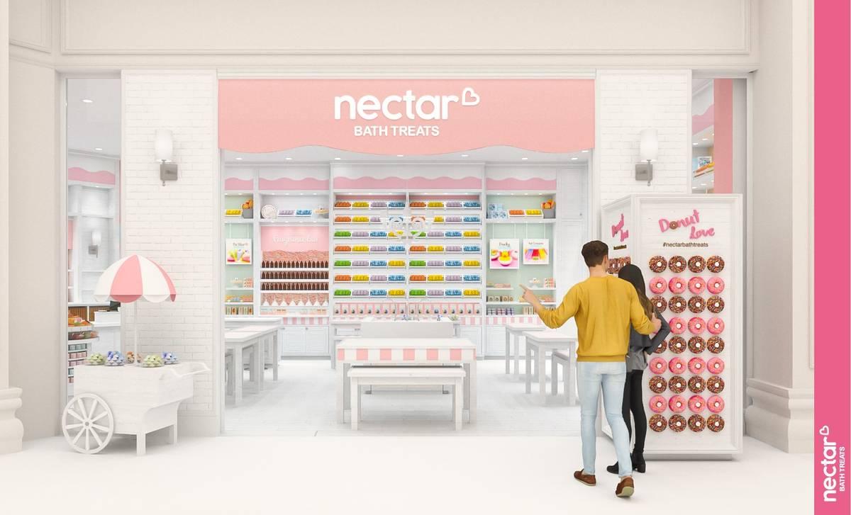 Render del local de Nectar Bath Treats que está previsto abrir este verano en Resorts World La ...