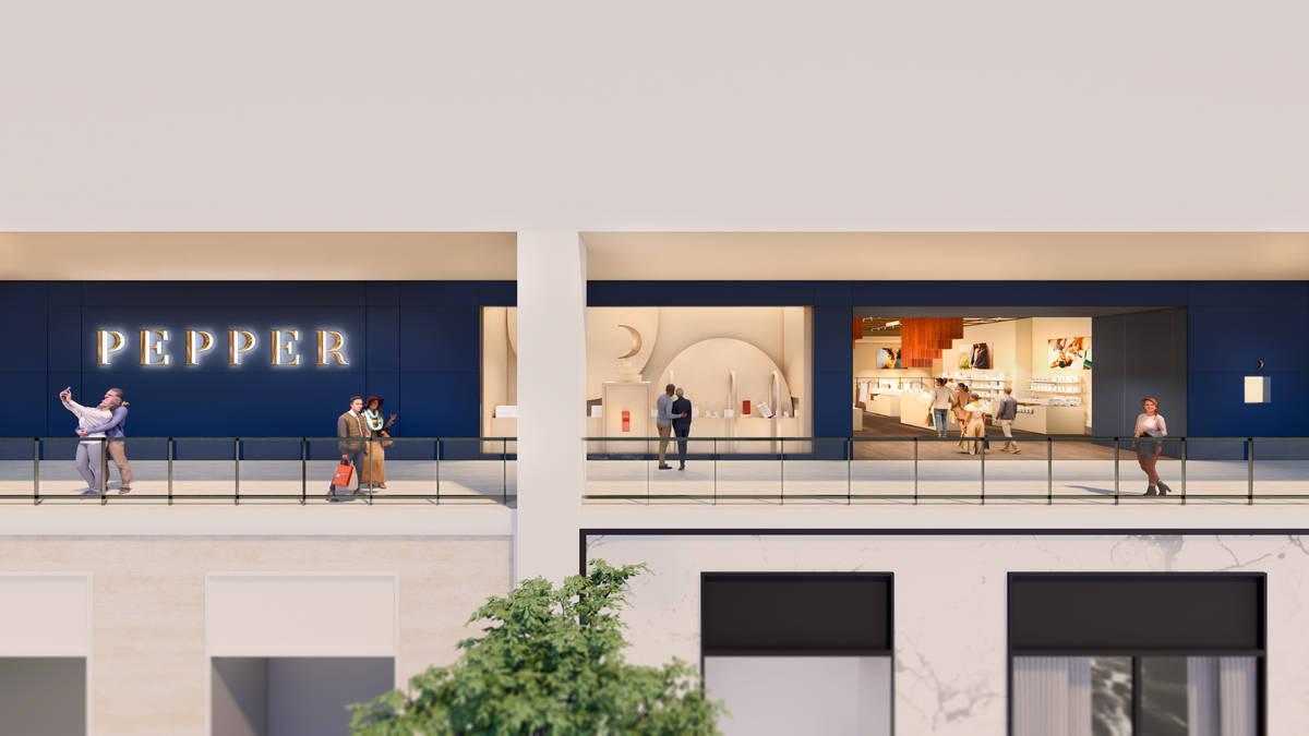 Render del local de Pepper que está previsto abrir este verano en Resorts World Las Vegas. (Re ...