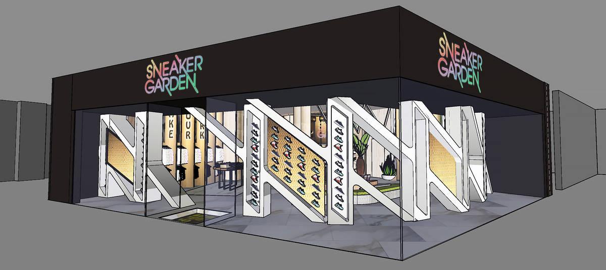 Render del local de Sneaker Garden que está previsto abrir este verano en Resorts World Las Ve ...