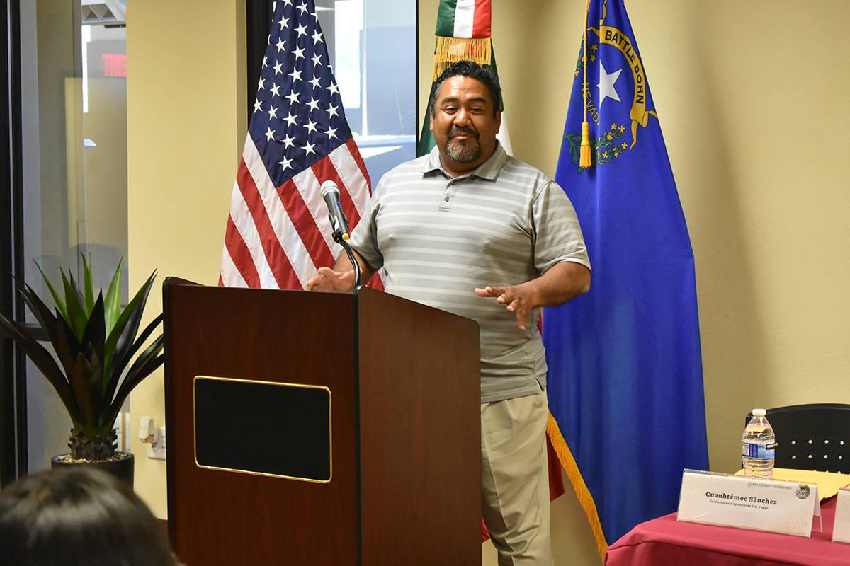 El miembro de la Comunidad Migrante Las Vegas, Cuauhtémoc Sánchez, aseguró que se busca segu ...