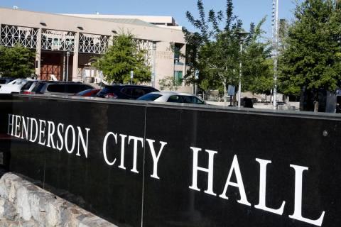 Ayuntamiento de Henderson el jueves, 13 de abril de 2017. (Bizuayehu Tesfaye/Las Vegas Review-J ...