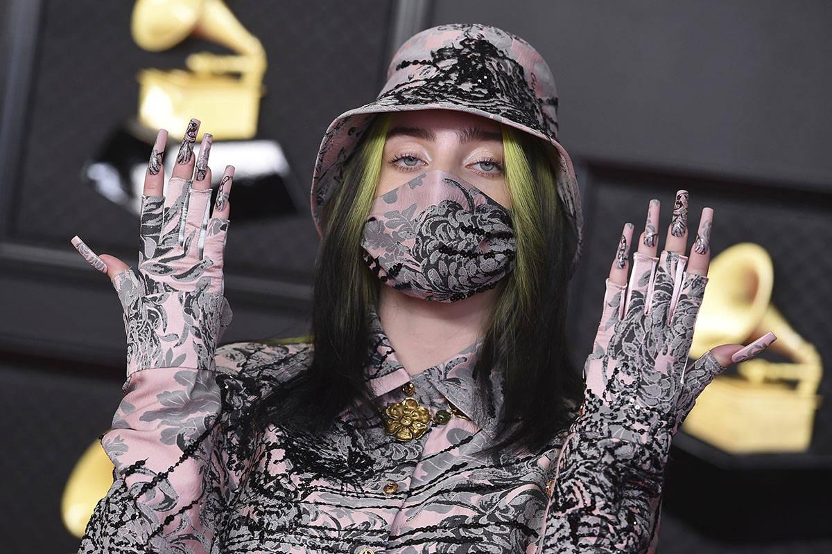 Billie Eilish llega a la 63ª edición de los Grammy Awards en Los Angeles Convention Center el ...
