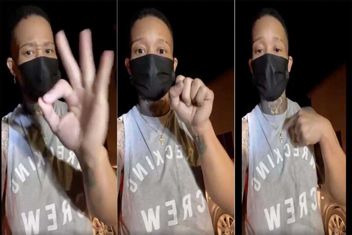"""Andrea """"Dre"""" Hollingsworth, que se hace llamar Drizzy Breezy en Facebook, aparece en tres captu ..."""