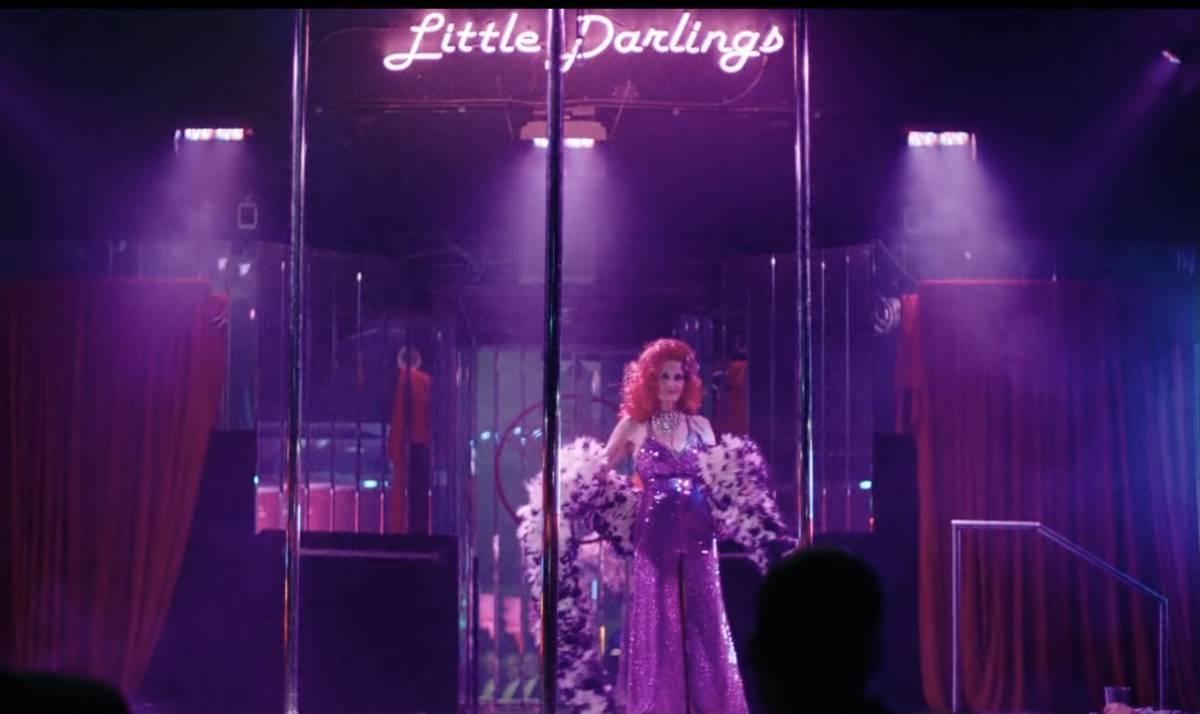 Una captura de video de la difunta leyenda burlesque Tempest Storm que aparece en el video de l ...