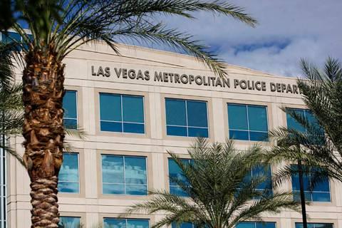 Edificio principal del Departamento de Policía Metropolitana de Las Vegas. [Foto Las Vegas Rev ...