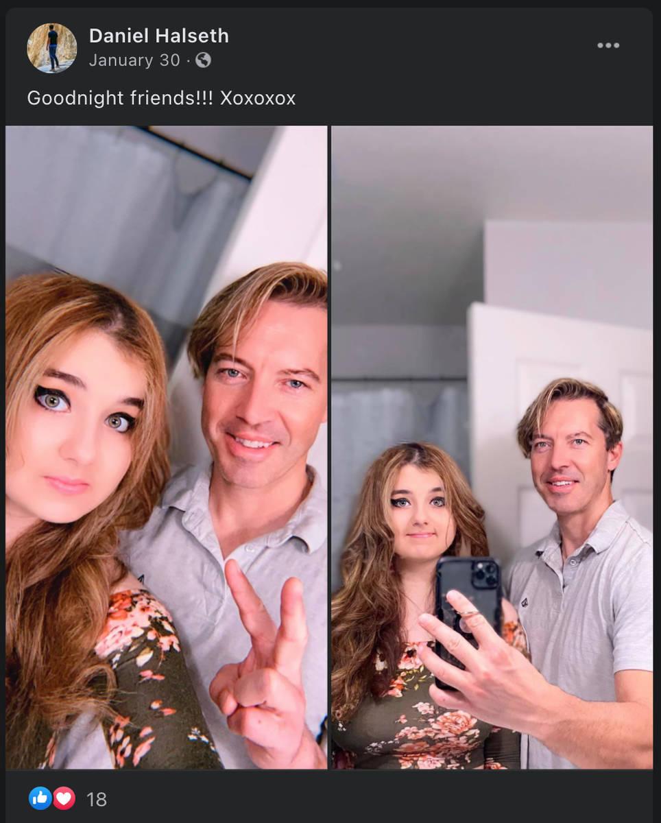 Daniel Halseth y su hija Sierra aparecen en esta imagen publicada en Facebook el 30 de enero de ...
